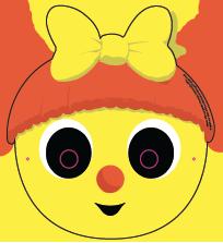 Le masque de Mireille l'abeille