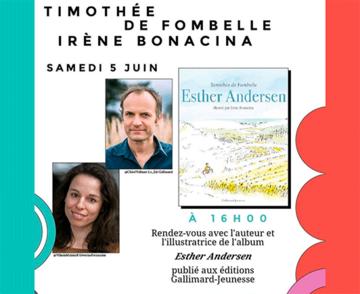 Timothée de Fombelle et Irène Bonacina en dédicace
