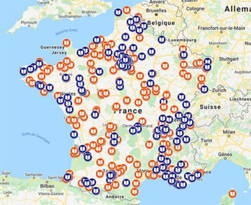 Carte Livres Hebdo des librairies proposant le click & collect