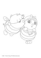 Coloriage Drôles de Petites Bêtes, Léon le bourdon