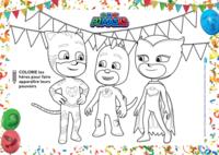 coloriages PJMASKS - colorie leurs pouvoirs