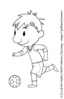 Nicolas joue au foot